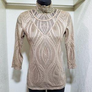 Free people lace turtleneck shirt